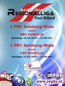 14.03.2015 - 15.03.2015 Regionalliga-West im Kugelrund Billardcenter