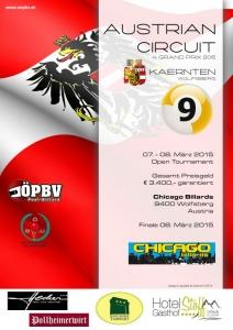 Billard GP in Wolfsberg - Chicago Billiards / Ergebnis