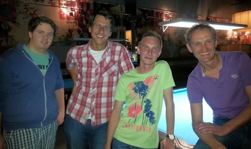v.l.: Krockauer Stefan, Schmidt Frank, Rettenbacher Florian und Strähhuber Helmut